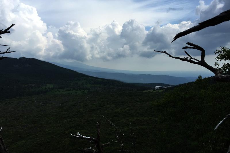 登山道、遠望