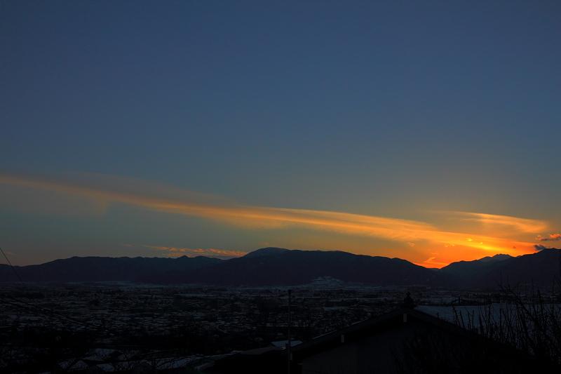 北アルプスの夕焼け