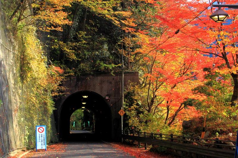 燃えるトンネル