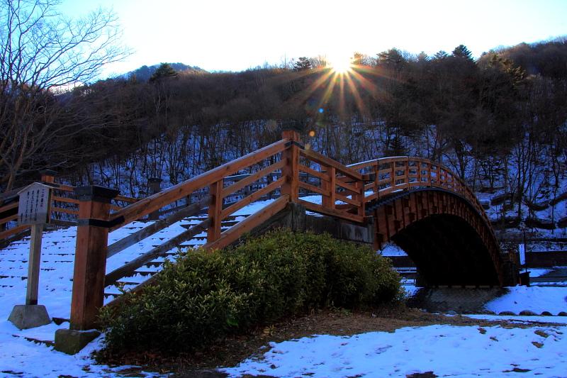 木曽の朝陽