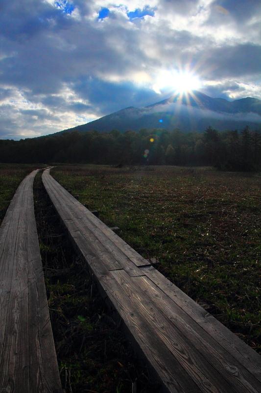 燧ケ岳からの朝陽
