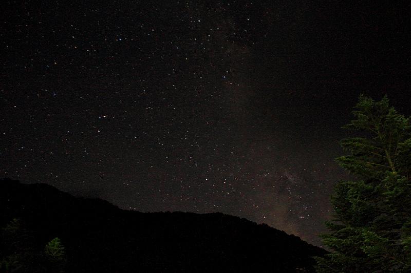 高原の天体